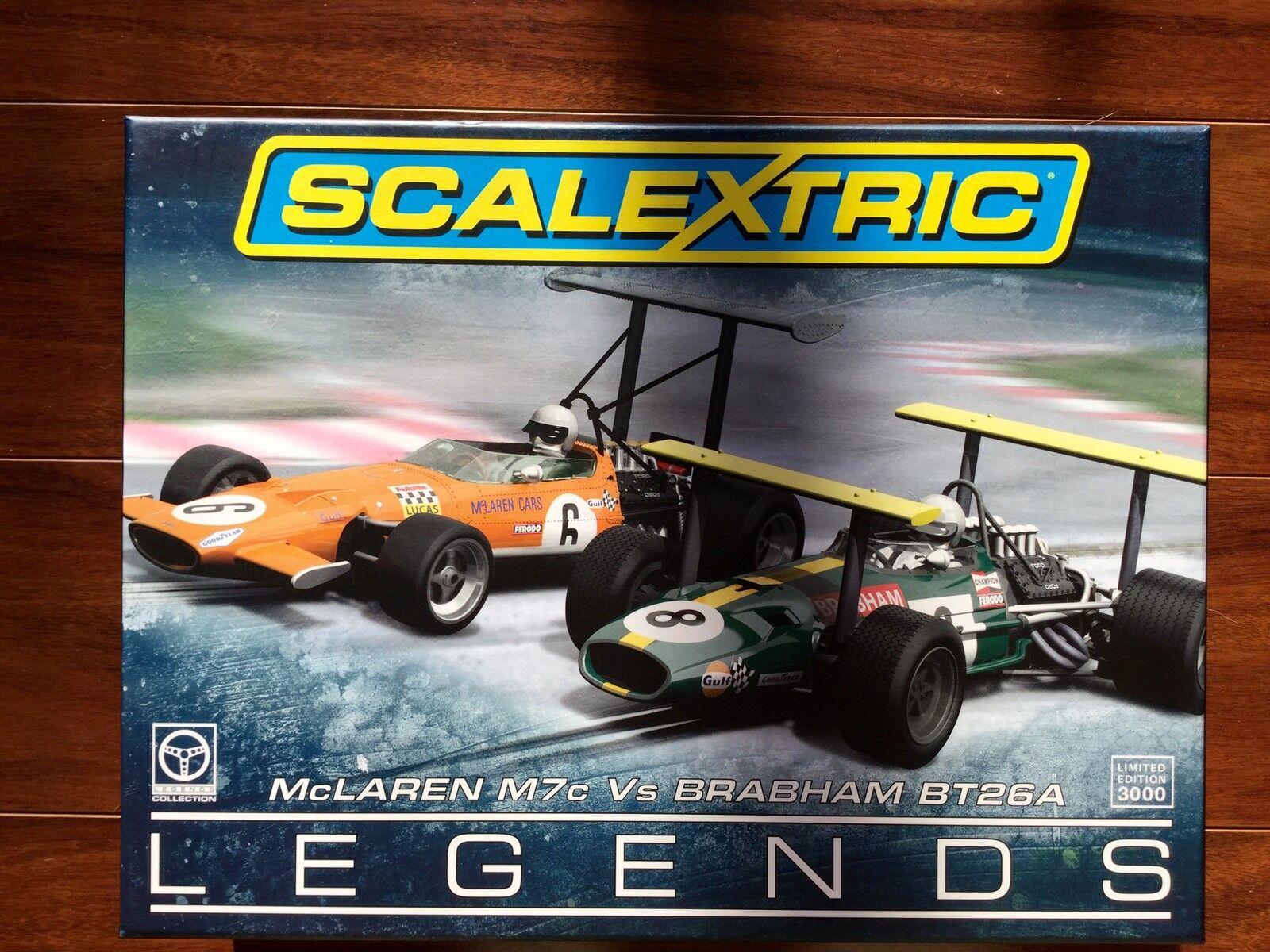 Scalextric 1/32 McLaren M7C vs Brabham BT26 Twin Pack como nuevo artículo en caja C3589A F/S