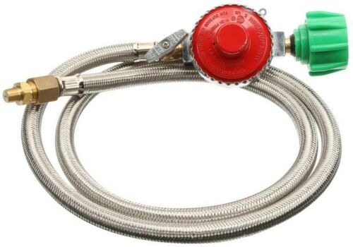 Bayou Classic High-Pressure Hose Replacement 10 PSI Regulator Stainless Steel