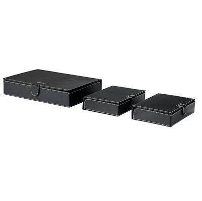 IKEA RISSLA Box für Dokumente 3 Stück SET schwarz Aufbewahrungsbox Ablagebox