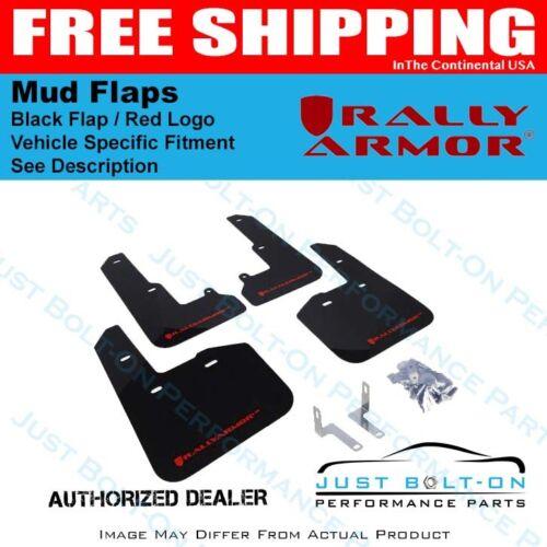 Rally Armor FITS 14-18 Subaru Forester Black Mud Flap w// Red Logo