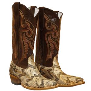 cbb10773ee9 Details about Cowtown Men's Brown Canebrake Rattlesnake Western Boot N815
