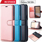 Wallet Case Leather Flip Cover For Samsung Galaxy S8 / S8+ Plus iPhone 7 Plus