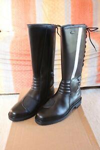 Dettagli su Stivali moto GIANFORT n.43 invernali tipo polizia carabinieri