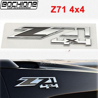 For Chevrolet Silverado/ GMC Sierra ABS Plastic Z71 Logo 4x4 Emblem Badge Chrome