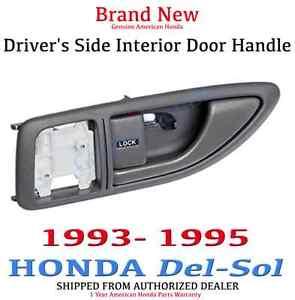 Genuine Oem Honda Del Sol Driver 39 S Side Grey Interior Door Handle 1993 1995 Ebay