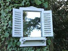SHABBY Chic GIARDINO SPECCHIO finestra 46 cm paese francese Look Invecchiato Bianco Lavare Scaffale