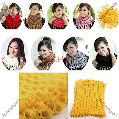 New Soft Winter Women Girls Knit Infinity Neck Warmer Circle Cable Scarf Scarves