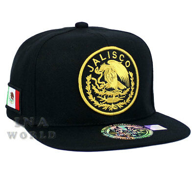 MEXICAN hat MEXICO Federal Logo State Mesh Snapback  Baseball cap-JALISCO//Gold