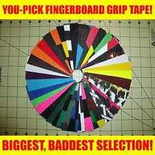YOU-PICK FINGERBOARD GRIP TAPE! BIGGEST, BADDEST SELECTION! USA! griptape sheet