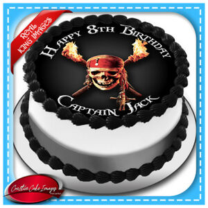 Fabulous Pirate Skull Cross Bone Edible Cake Topper Icing Image Birthday Funny Birthday Cards Online Eattedamsfinfo