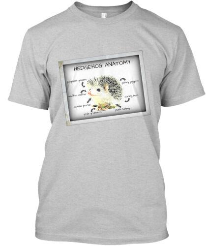Hanes Tagless Tee T-Shirt Hedgehog Anatomy