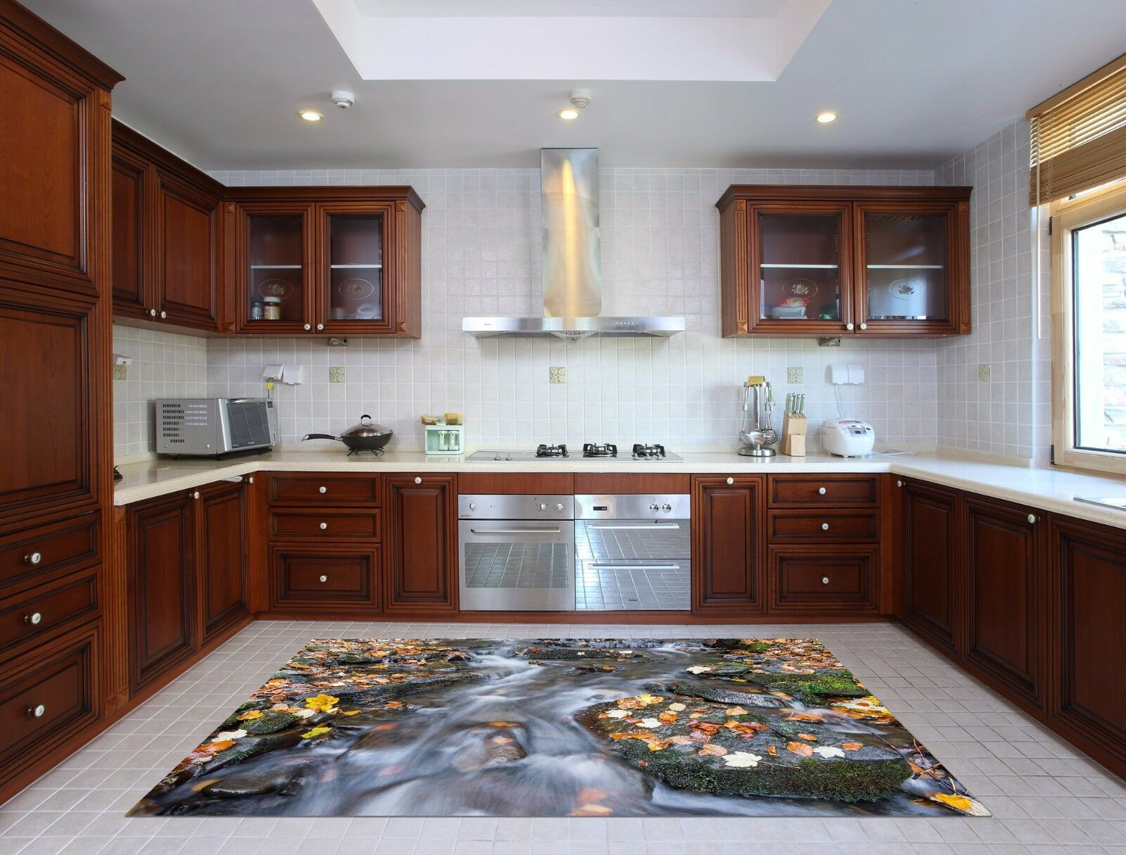 3D Stone Water 772 Kitchen Mat Floor Murals Wall Print Wall Deco UK Carly