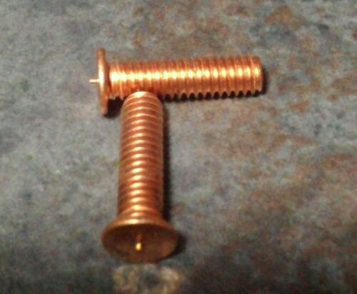 "8-32 welding stud 5//8/"" long copper clad mild steel 100 pc."