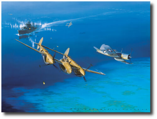 Corsair P-38 Lightning Too Close for Comfort by Jack Fellows