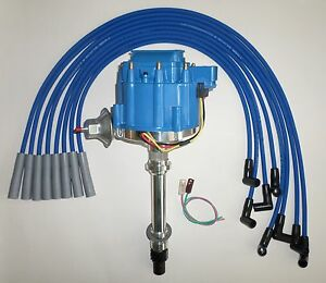 PLUG WIRES-180/'s BLUE COIL CHEVY 396-427-454 BIG BLOCK Small HEI Distributor