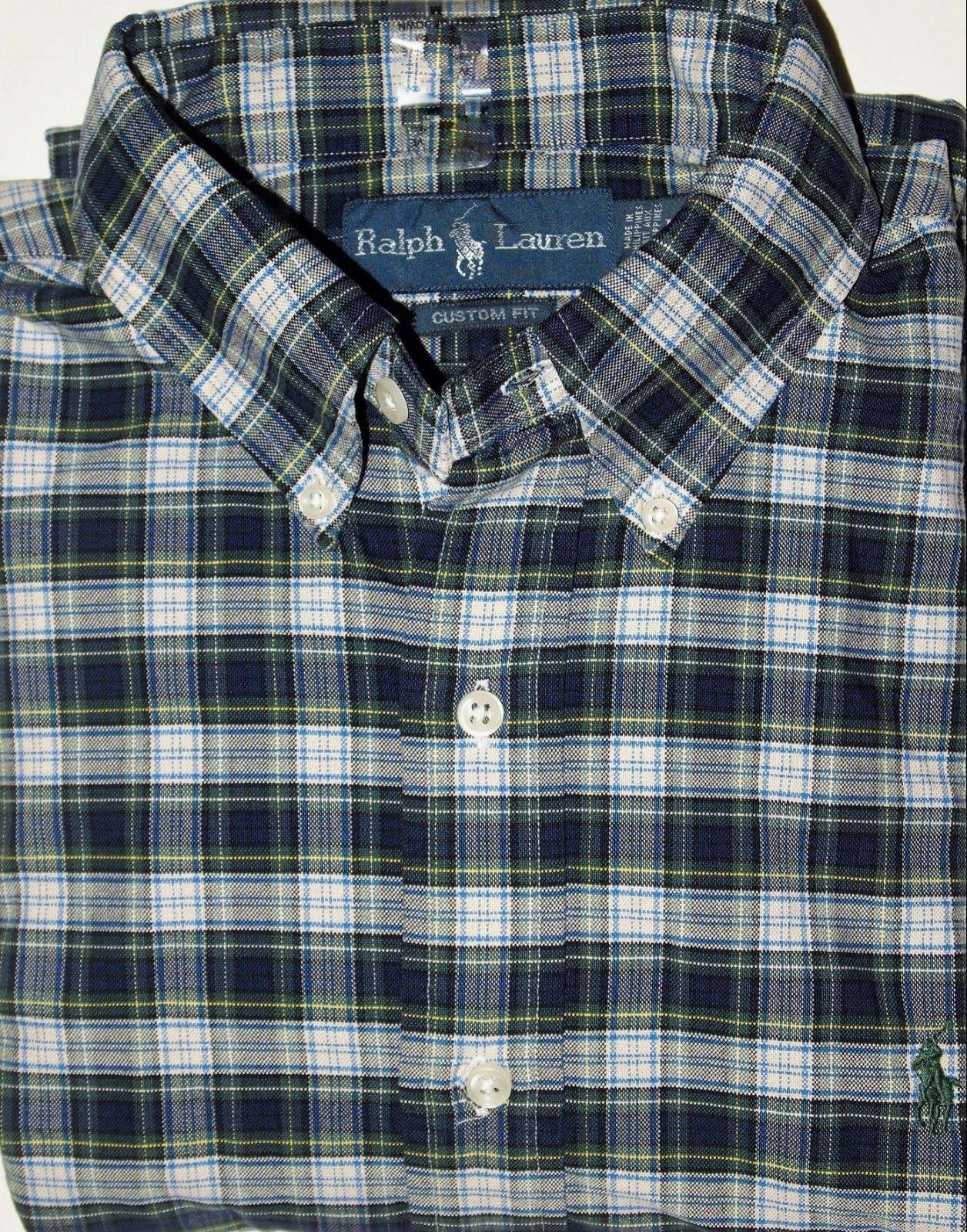 Ralph Lauren men's plaid shirt size medium