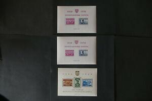 Briefmarken, Litauen, Block 1 postfr., gez. + geschnitten, Block 2 postfrisch