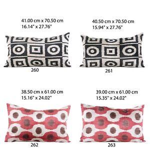 MINIMUM 2 pcs, Velvet Ikat Pillow Cover,16x24, FREE Shipment FedEx 16x24-260-299