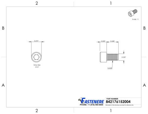 1//4-20 Socket Head Cap Screws Stainless Steel Allen Bolts All Lengths Quantities