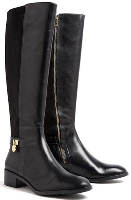 96fd04f2d3d Michael Kors MK Hamilton Tall Black BOOTS 40f5hafb1l Size 5.5 G1