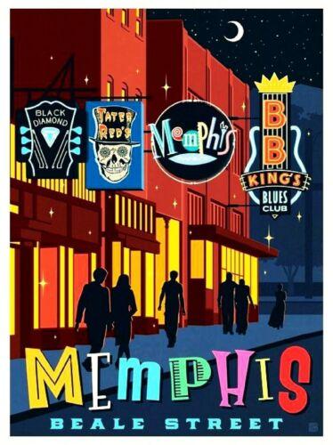 "Tennessee Raleigh America Fridge Magnet Poster Vintage Retro Cute Art USA 2x3/"""