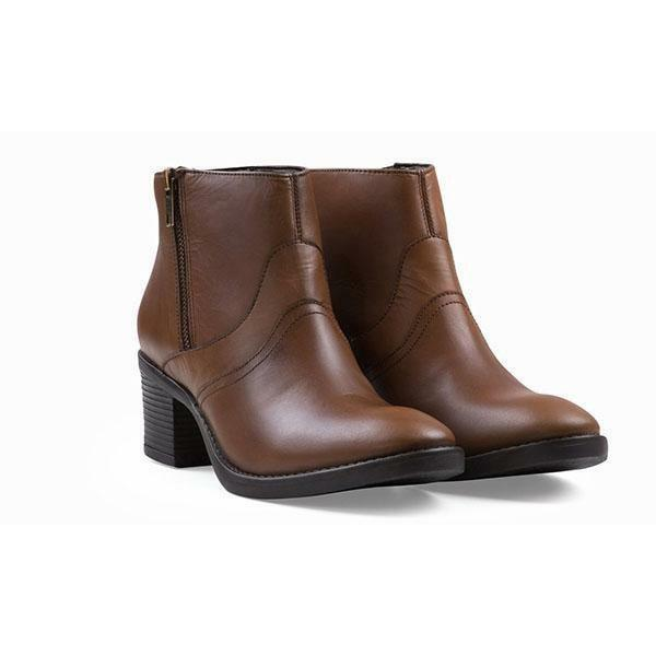 Gran descuento Redfoot Damas Cuero Botas al tobillo con cremallera taco Sophia tan /euro 36