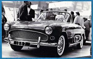 Moderne vintage large photo Simca Aronde Oceane convertible car auto YI-34