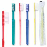 Adult Pre-pasted Disposable Toothbrush, 39 Tufts, Four Color Assortment