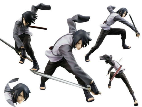 Japan Anime Naruto Shippuden Uchiha Sasuke PVC Figure Figurine Battle 17cm NoBox
