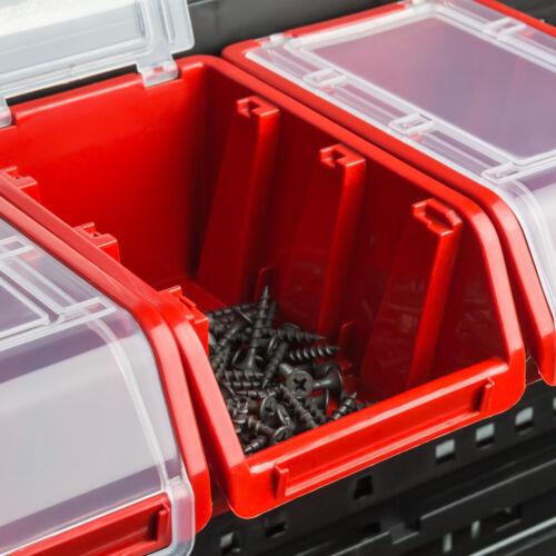 5 x Stapelbox Stapelkiste Sortierbox Box mit Deckel 160x230x120 mm Schwarz