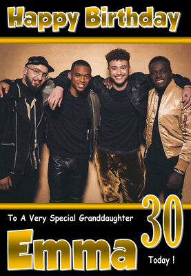 GREAT! RELATION A5 SIZE Rak-Su Personalised Birthday Card 3 ANY NAME AGE
