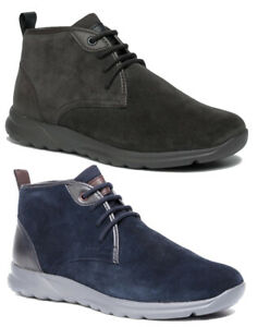GEOX-RESPIRA-DAMIAN-U940HC-scarpe-uomo-sneakers-polacchine-pelle-camoscio-casual