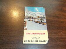 DECEMBER 1959 UNION PACIFIC POCKET NOTEBOOK PASSENGER TRAIN SOUVENIR