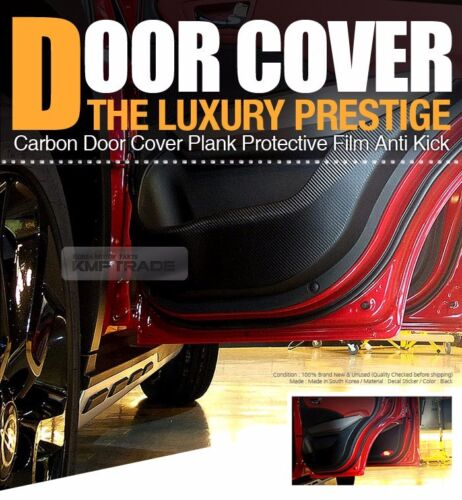 Carbon Door Decal Sticker Anti Kick Black Protector for JAGUAR 2009-2016 XF X351