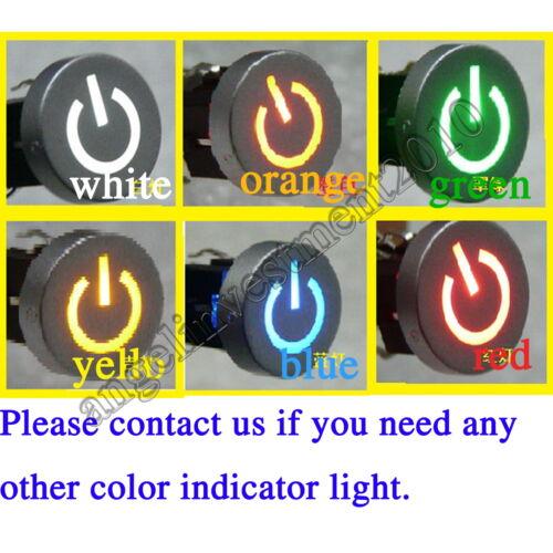 5pcs Blue Led Dia 10mm Cap  LIGHT  12V Momentary Tact Push Button Switch