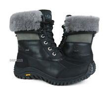 5dc830613c2 UGG Australia Adirondack II Black Grey Leather Waterproof BOOTS US 8 ...