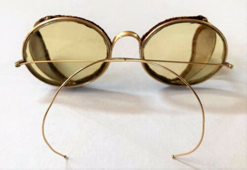 Antique PEERLESS 1930's Folding Motorcycle Goggles