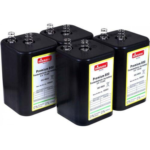 4R25 6V-Blockbatterie Ersatz für Nissen Laternenbatterie IEC 4R25 4er Set 6V 79