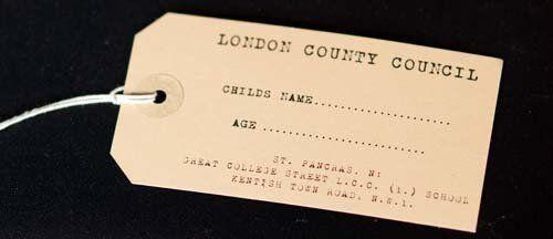 Replica luggage label-Projets scolaires-Années 1940 Wartime-Histoire Memorabilia Set