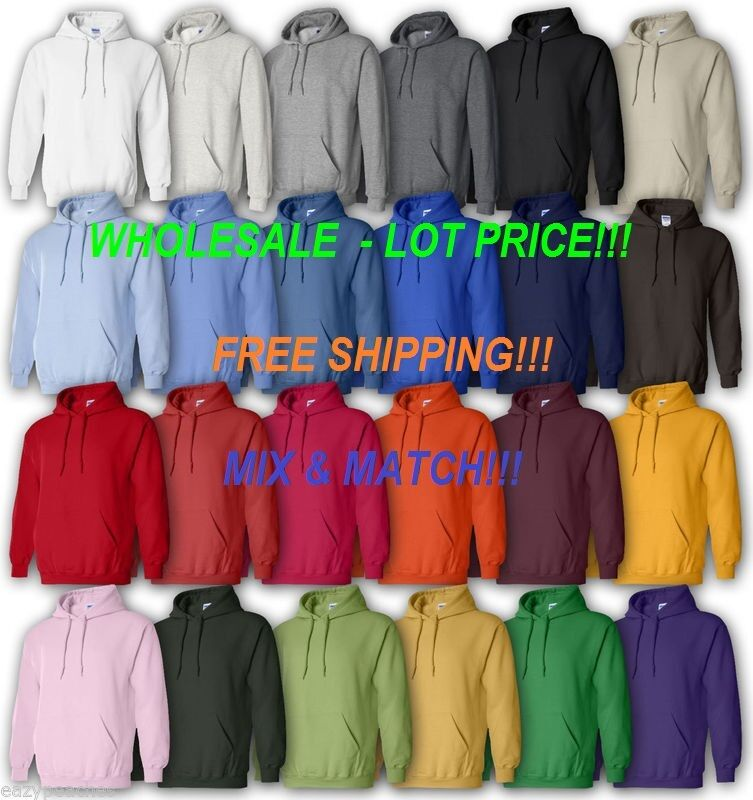 Gildan 18500 WHOLESALE LOT PRICE, Weiß or Farbes (Mix&Match) Hoodie New on SALE