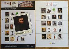 Österreich Edition 20 postfrisch Motiv Landesmuseen postgültige Frankatur MNH