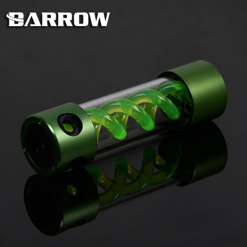 Barrow Alloy Cylinder T-Virus Green Spiral Suspension Tank Reservoir 205mm