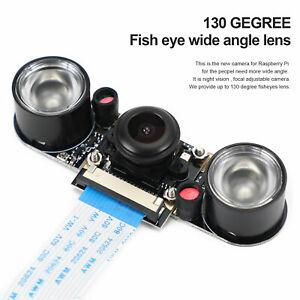 Fisheyes 130 Degree 5Mp Infrarotlicht Nachtsicht Kamera für Raspberry Pi 4B/3B A