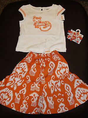 Gymboree BATIK SUMMER Girls Size 4T Hippo Bike Shorts Tiger Top Shirt NEW