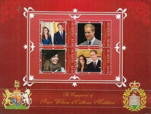 St Kitts 2010 MNH Royal Engagement 4v M/S II Prince William Kate Middleton