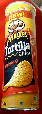 180gram TUBE OF PRINGLES TORTILLA CHIPS - ORIGINAL -WILL SHIP WORLDWIDE