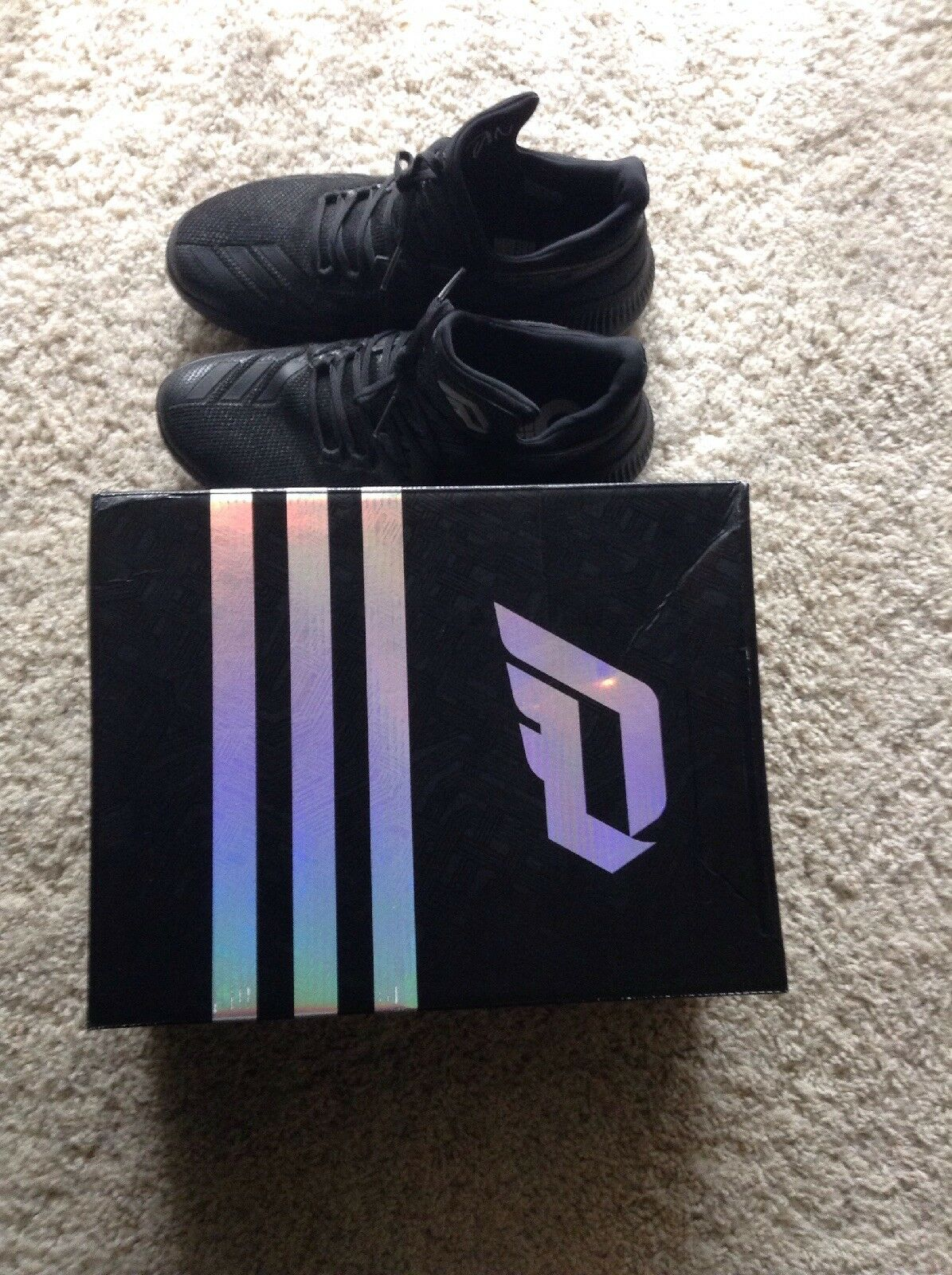 Adidas d lillard 3 iii damian dame luci nero 9.5 grigio rimbalzare aumentare dimensioni 9.5 nero 96355f