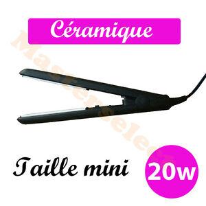 mini fer lisser avec plaque fine en c ramique pour frange cheveux court ebay. Black Bedroom Furniture Sets. Home Design Ideas
