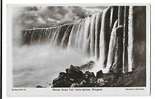 Horse Shoe Fall From Below RP PPC Falls Station PMK 1909 by Davidson Brothers