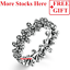 GIFT 925 Sterling Silver Dazzling Daisy Meadow Clear CZ Ring Jewelry Ring